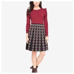 NWT ANN TAYLOR Pleated Embroidered Lined Skirt 8